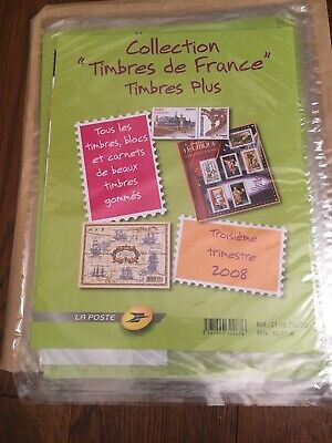 3ème Trimestre 2008 Pochette Collection timbres France Plus Blocs & Carnets