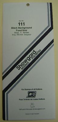 Showgard size 111  black hingeless stamp mount NEW unopened pack 1st quality 264