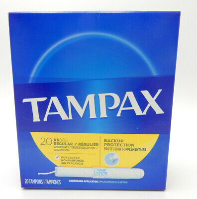 (6PK) Tampax Cardboard Applicator Tampons Regular Absorbency 20CT 073010280106WS