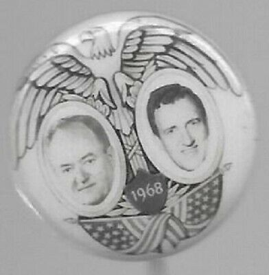 Humphrey And Muskie Rare Smaller Size Jugate Political Sample Pin