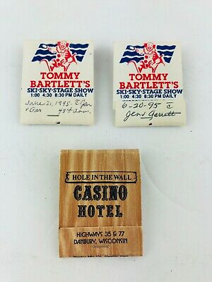 Vintage Tommy Bartlett's Ski Sky Stage Show Hole in the Wall Casino Wisconsin
