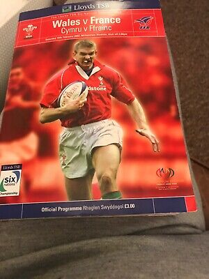 Wales V France Rugby Programme 6 Nations February 16th 2002