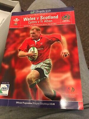 Wales V Scotland Rugby Programme 6 Nations April 6th 2002