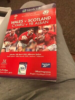 Wales V Scotland Rugby Programme 6 Nations March 18th 2000