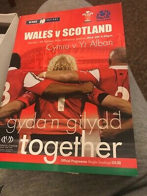 WALES v SCOTLAND 14th FEBRUARY 2004 RBS 6 NATIONS RUGBY PROGRAMME