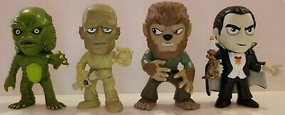 Lot of 4 Funko Mystery Minis ~Universal Monsters~ Dracula~Mummy~Wolfman~Creature