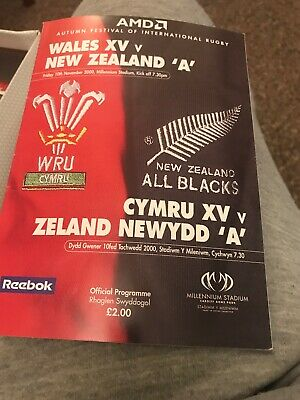 Wales XV v New Zealand A Rugby Programme November 10th 2000