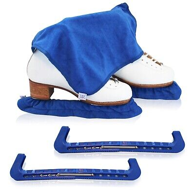 Skate Guards, Soakers & towel Gift BLADE BLUE Figure skating ice skate guard