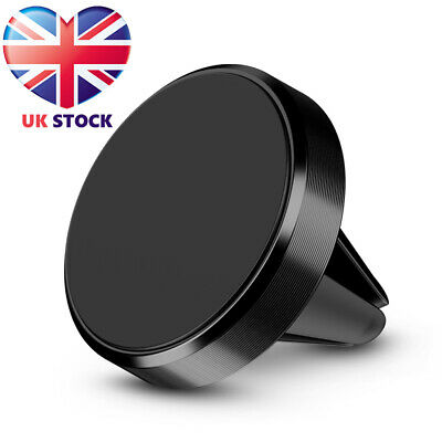 In Car Magnetic Phone Holder Fits Air Vent Universal Mount Black Silver UK