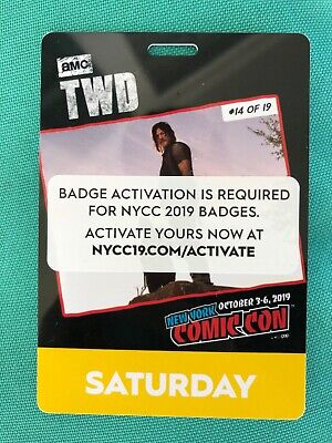 Nycc 2019 New York Comic Con Saturday Badge Fan Verified
