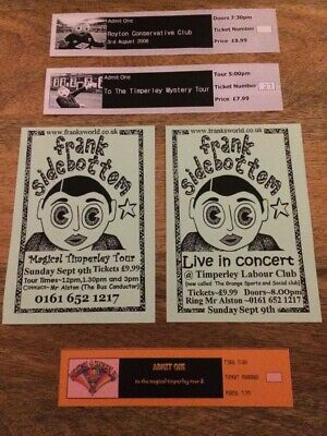 Very rare frank sidebottom gig tickets & gig flyers for sale...free uk p&p.