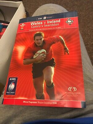 Wales V Ireland Rugby Programme 6 Nations March 22nd 2003