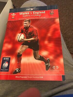 Wales V England Rugby Programme 6 Nations February 22nd 2003