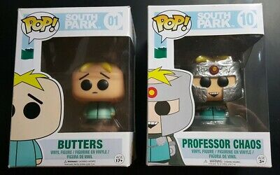 Funko Pop! Television: South Park - Butters #01 & Professor Chaos #10 New In Box