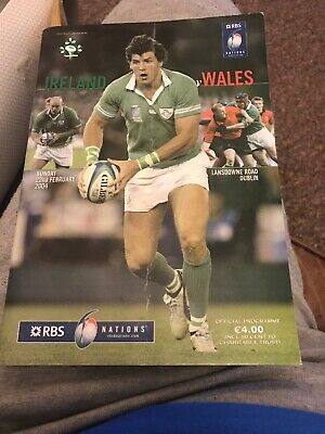 Ireland V Wales Rugby Programme 6 Nations February 22nd 2004