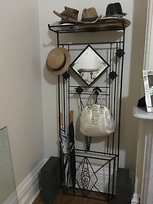 Original French Art Deco Wrought Iron Hat And Coat Stand