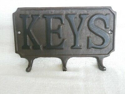 Vintage Cast Metal Collectible - Iron Key Holder - Antique??? - No Makers Mark