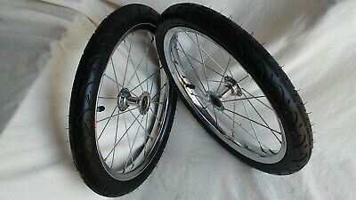 16 X 1.75 Chrome Steel Project/Cart Wheels 30 psi Tire and Tube 20 Spoke Wheel