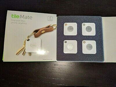 Tile Mate EC-06004  App Key Finder Cell Phone Bluetooth  4 Tiles