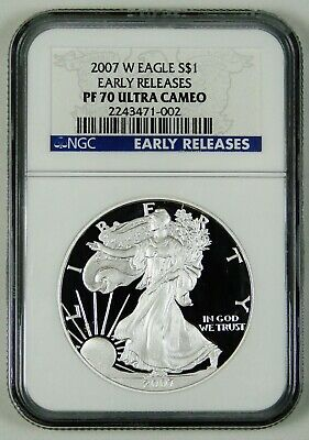 2007 W American Silver Eagle NGC Certified PF70 ULTRA CAMEO EARLY RELEASES