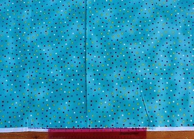Makower,fabric,for quiltingfat quarter,craft,blue multicolour dots