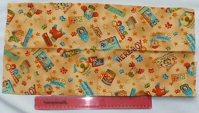 Makower,fabric,for quiltingfat quarter,craft,funny dogs