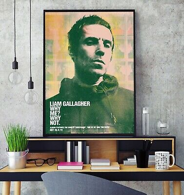 Liam Gallagher - Why Me? Why Not. Album Premium Poster Print Professional Grade