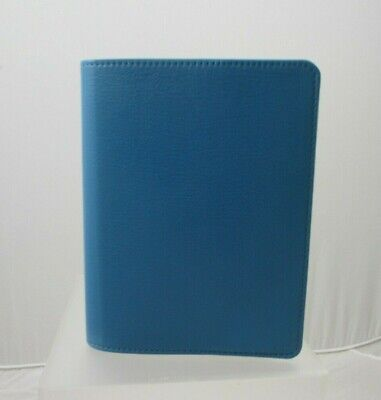 """Graphic Image Wire-O 5x7"""" Notebook Refillable Leather Cover New Blue"""