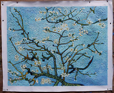 """Oil painting canvas Vincent van Gogh Branches with Almond Blossom 28.5""""""""x36.5"""""""