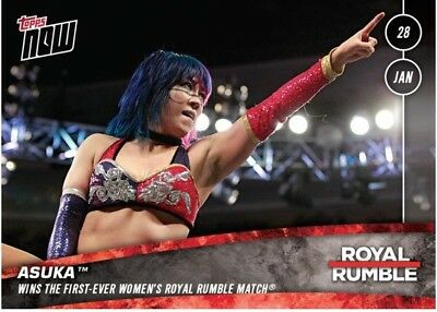 2018 Topps NOW WWE #1-6 Royal Rumble 6-Card Set