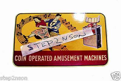AMI Continental Jukebox Machine Water Release Decal 1960`s USA Coin Amusement --