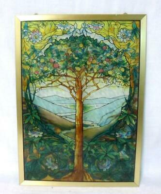 Glassmasters Louis C. Tiffany Stained Glass Panel Sun Catcher