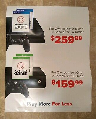 Gamestop Exclusive Game Trade In Poster Xbox One PS4 PlayStation Trade In Credit