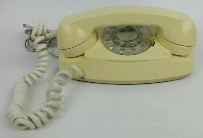 Western Electric Bell System The Princess Phone 701B 1-61 Vintage Rotary Yellow