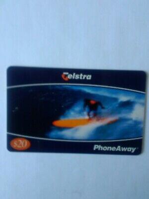 $20 Mint Phoneaway Phonecard Surfboard Rider 00079