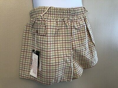 Vintage 1960s Swim Trunks Swim Suit Plaid Board Shorts Mens Medium NOS Deadstock