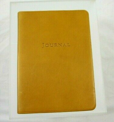 """Graphic Image Travel Writing Journal Leather Soft Cover 5x7"""" Lined Pages Tan"""