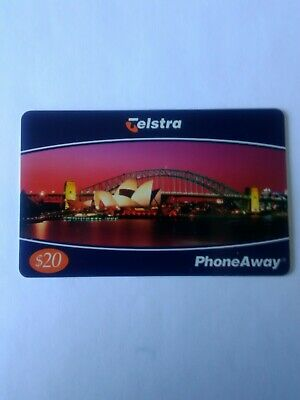 $20 Mint Phoneaway Phonecard Opera House and Sydney Harbour Bridge 00075