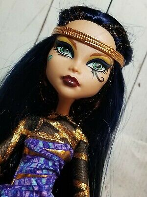 Mattel 2008 Monster High Cleo De Nile Boo York Doll Egyptian Barbie w outfit