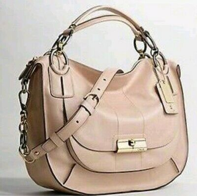 Authentic COACH Kristin Elevated Leather Sage Round Satchel With Original Receip