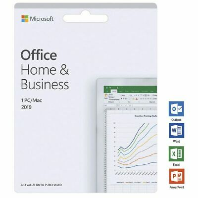 Microsoft Office Home and Business 2019 1 PC/Mac Card