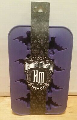 Disney HAUNTED MANSION Authentic Silicone Ice Tray Halloween Party Bat Mold NWT