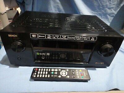 Denon integrated av receiver, AVR-X2100W with remote, works good
