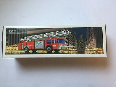 Hess Toy Red Fire Truck Bank 1986 VTG New In Original Box No Batteries NOS
