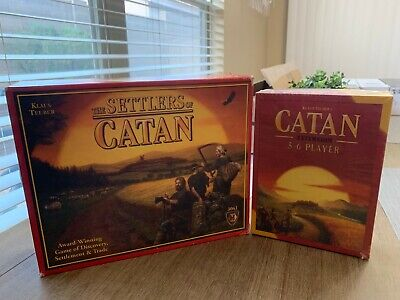 The Settlers of Catan and The Settlers of Catan 5-6 player expansion pack