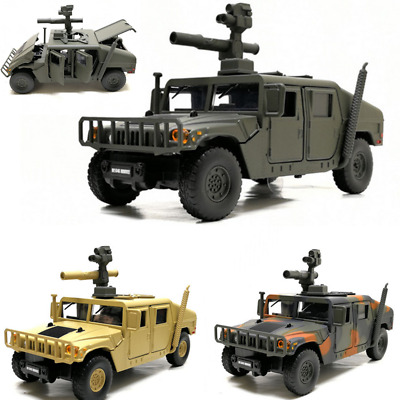 1:37 Alloy Diecast Hummer Model Toys Car Hummer H1 Military SUV Tactical Vehicle