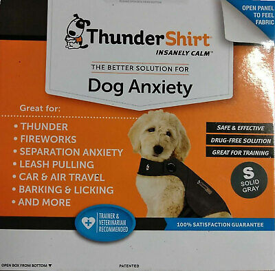 ThunderShirt Dog Anxiety Jacket, | Solid Gray, SMALL SIZE (15-25 LBS)