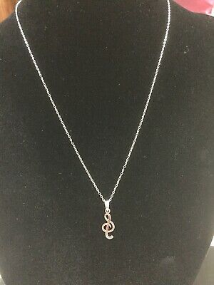 Sterling Silver Very Fine Necklace And Pendant