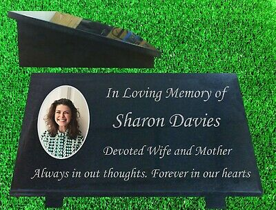 personalised granite memorial plaque grave marker with photograph