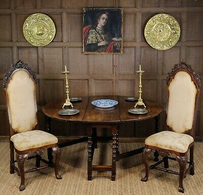A 17th century gateleg table.